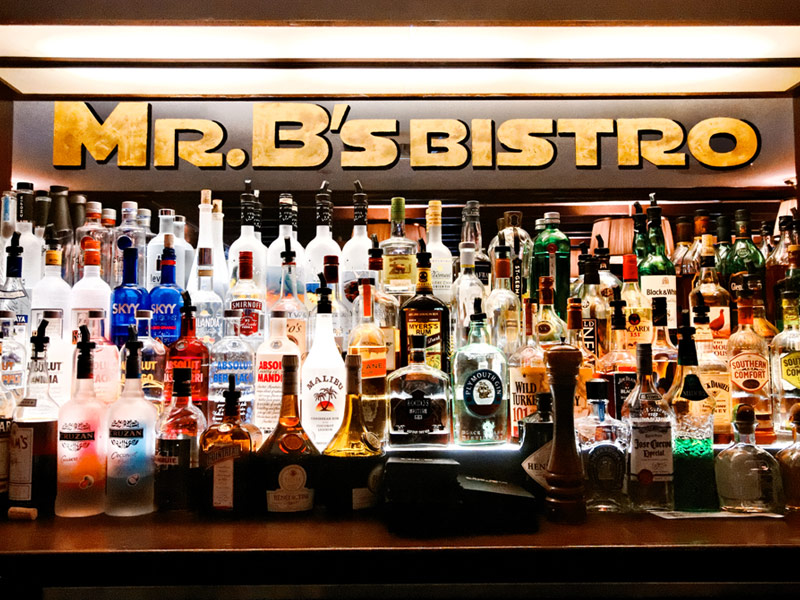 Bar Sign with Bottles